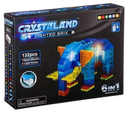"""Светящийся конструктор Crystaland """"Животные"""" 6 в 1, 132 детали"""