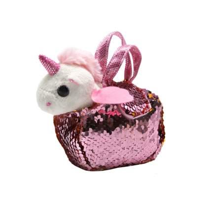 Мягкая игрушка Единорог в сумочке с пайетками Пушистые друзья JB0571976