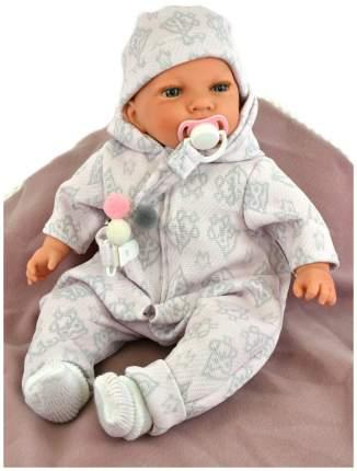 Пупс Nines d'Onil Новорожденный малыш, в теплом комбинезоне, с одеялом в коробке, вид 1