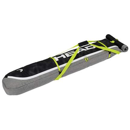 Head Ski Double Skibag Antracite/Grey-Neon Yellow (18/19) (185)