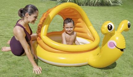 Детский надувной бассейн INTEX Lazy Snail 145х102х74 см 57124