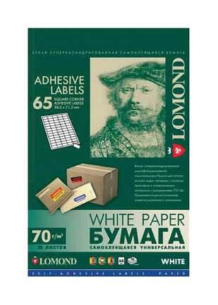 Бумага самоклеящаяся Lomond 2100215 Белый