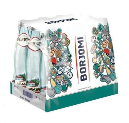 Вода Borjomi минеральная лечебно-столовая газированная стекло 0.5 л 12 штук в упаковке