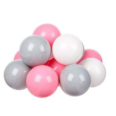 Комплект шариков Розовый бриз (100шт: розов, сер, и бел) для сухого бассейна