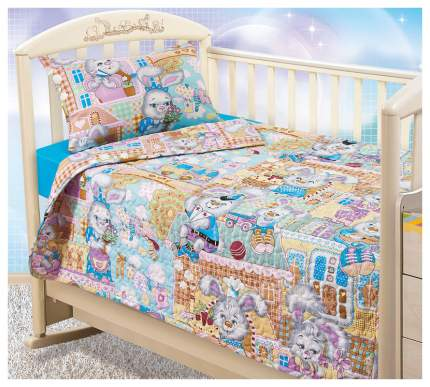 Комплект детского постельного белья Текс-Дизайн Зайкин город