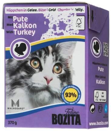 Влажный корм для кошек Bozita in Jelly with Minced Turkey, 370 г