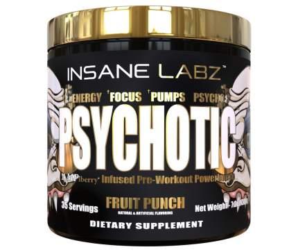 Предтренировочный комплекс Insane Labz Psychotic Gold 202 г, Fruit Punch