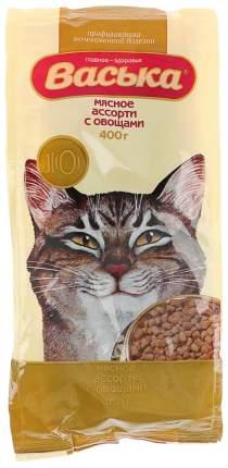 Сухой корм для кошек Васька, для профилактики МКБ, мясное ассорти, овощи, 0,4кг