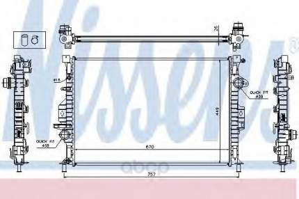 Радиатор охлаждения двигателя Nissens 65615A