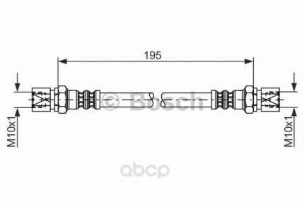 Шланг тормозной системы Bosch 1987476030 задний