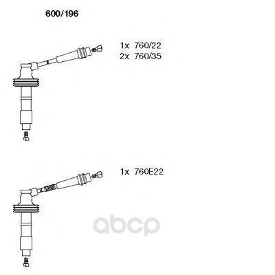Комплект высоковольтных проводов BREMI 600196