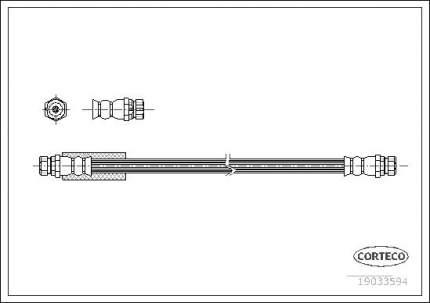 Шланг тормозной CORTECO 19033594