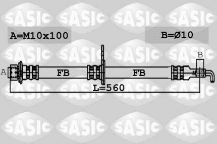 Шланг тормозной системы SASIC 6600038