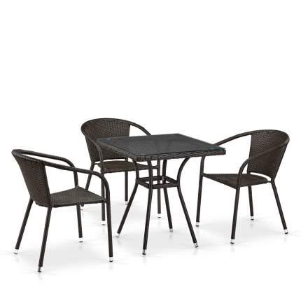 Комплект плетеной мебели T282BNT/Y137C-W53 Brown 3Pcs