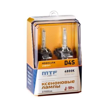 Лампа ксеноновая D4S MTF-Light Absolute Vision 3700lm (2шт.)