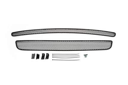 Сетка на бампер внешняя arbori для Renault Koleos 2008-2011, 2 шт., черная, 15 мм