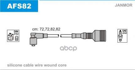 Комплект проводов зажигания JANMOR AFS82