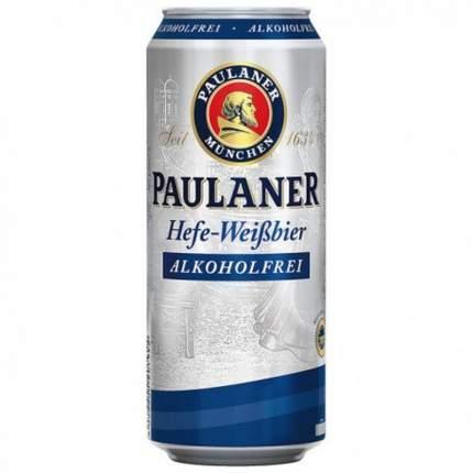 Пиво безалкогольное Paulaner Hefe 0.5 л в банке