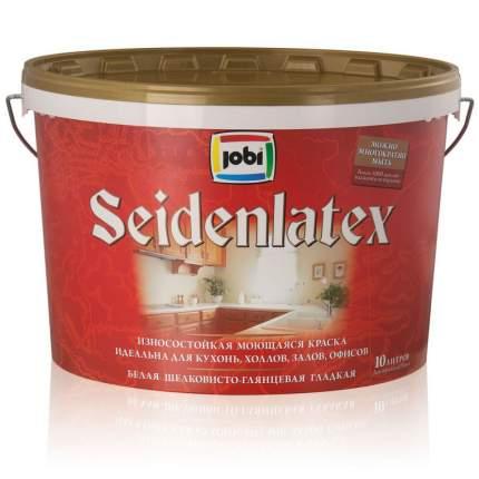 Краска JOBI SEIDENLATEX глянцевая моющаяся -20С° 0,9л