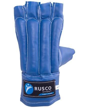 Перчатки снарядные Rusco Sport, шингарды, кожзам, синий (L)