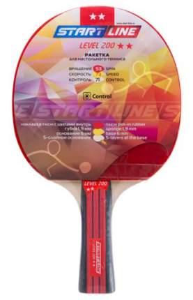 Ракетка для настольного тенниса Start Line 12304 Level 200, черно-красная