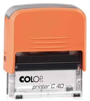 Оснастка для печати Colop C40 Compact Transparent. Цвет корпуса: оранж.