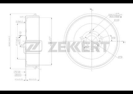Тормозной барабан ZEKKERT BS-5167