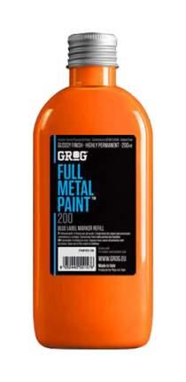 Заправки для маркеров Grog Full Metal Paint Neon orange 200 мл