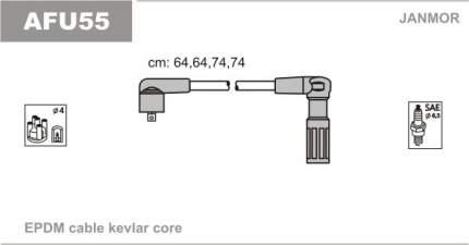 Комплект проводов зажигания JANMOR AFU55
