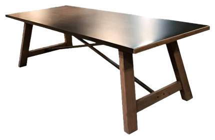 Кухонный стол ROOMERS 78x250х100 см, коричневый