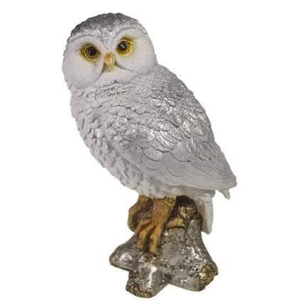 Фигура декоративная Сова на коряге серебро L9W10H20см