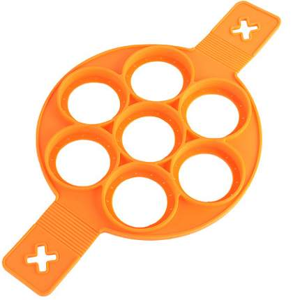 Форма Mayer&Boch для оладий силикон, оранжевая, 88850-1