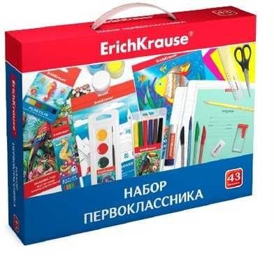 Набор для первоклассника в подарочной упаковке ErichKrause, 43 предмета, 45413