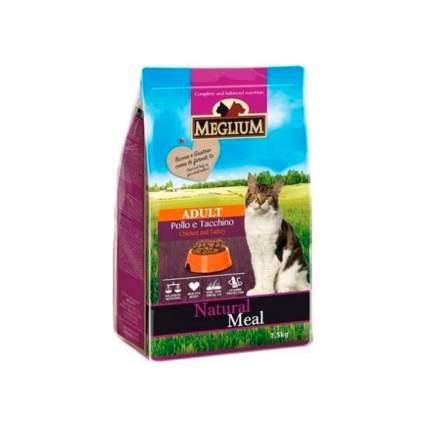 Сухой корм для кошек Meglium Adult, индейка, курица, 1,5кг