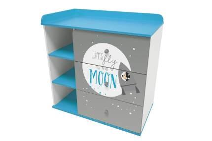 Пеленальный комод Polini Kids Disney Baby Микки Маус 5090 с 3 ящиками, Белый/Серый