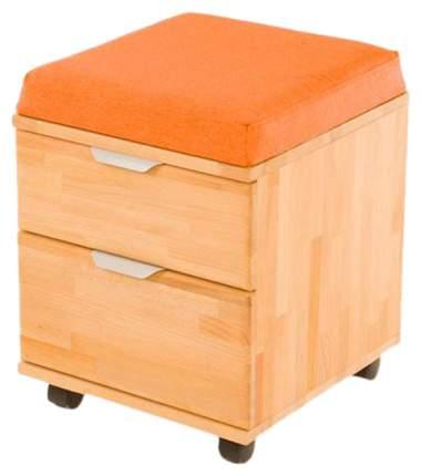 Тумба-пуфик Pondi (цвет каркаса: массив бука, цвет товара: оранжевый)
