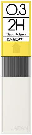 """Грифели для механических карандашей Tombow """"Mono"""", 0,3 мм, 2H, 12 штук"""