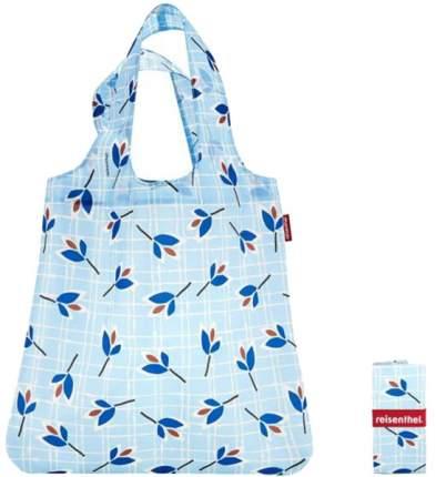 Сумка складная Mini maxi shopper leaves blue