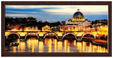 Репродукция в раме с декором 112х62 см Hoff Вечерний Рим