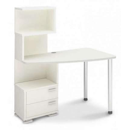 Компьютерный стол Мэрдэс Домино нельсон СКМ-60 MER_SKM-60_BE-PRAV, белый жемчуг