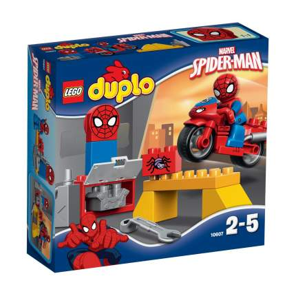 Конструктор LEGO Duplo Super Heroes Человек-паук: мотоцикл и мастерская (10607)