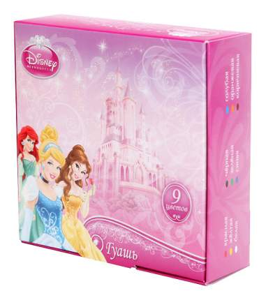Гуашь Играем вместе Disney Принцесса 9 цветов