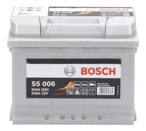Аккумулятор автомобильный автомобильный Bosch S5 Silver Plus 0 092 S50 060 63 Ач