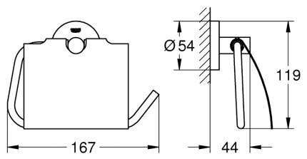 Держатель для туалетной бумаги Grohe Essentials 40367DC1 Supersteel