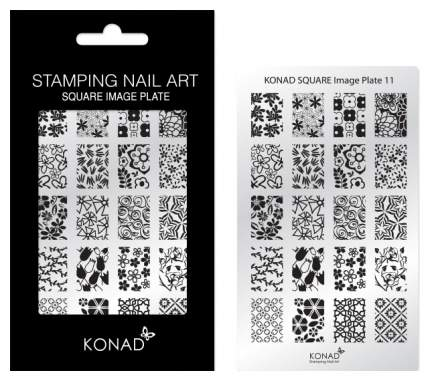 Трафареты для ногтей KONAD Пластина для стемпинга Square Image Plate 11