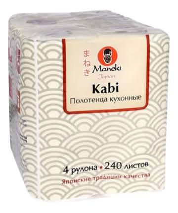 Бумажные полотенца Maneki kabi 4 рулона 240 листов