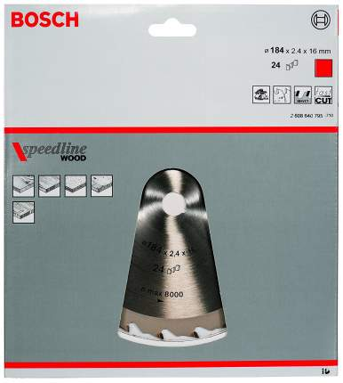 Диск по дереву Bosch STD SWO 184x16-24T 2608640795