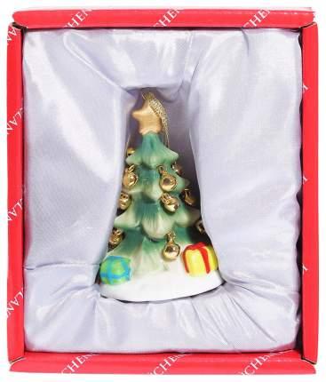 Елочная игрушка Kuchenland Елка с золотыми шарами 7,5 см