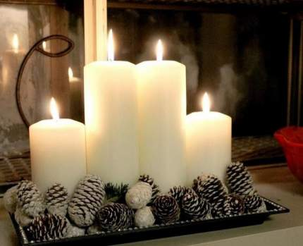 Свеча столбик, 125*60 мм, белый 079601