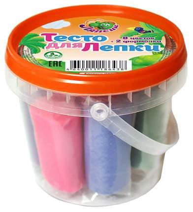 Паста для лепки Ляпсик в банке 8 цветов 2 формочки 200гр П111